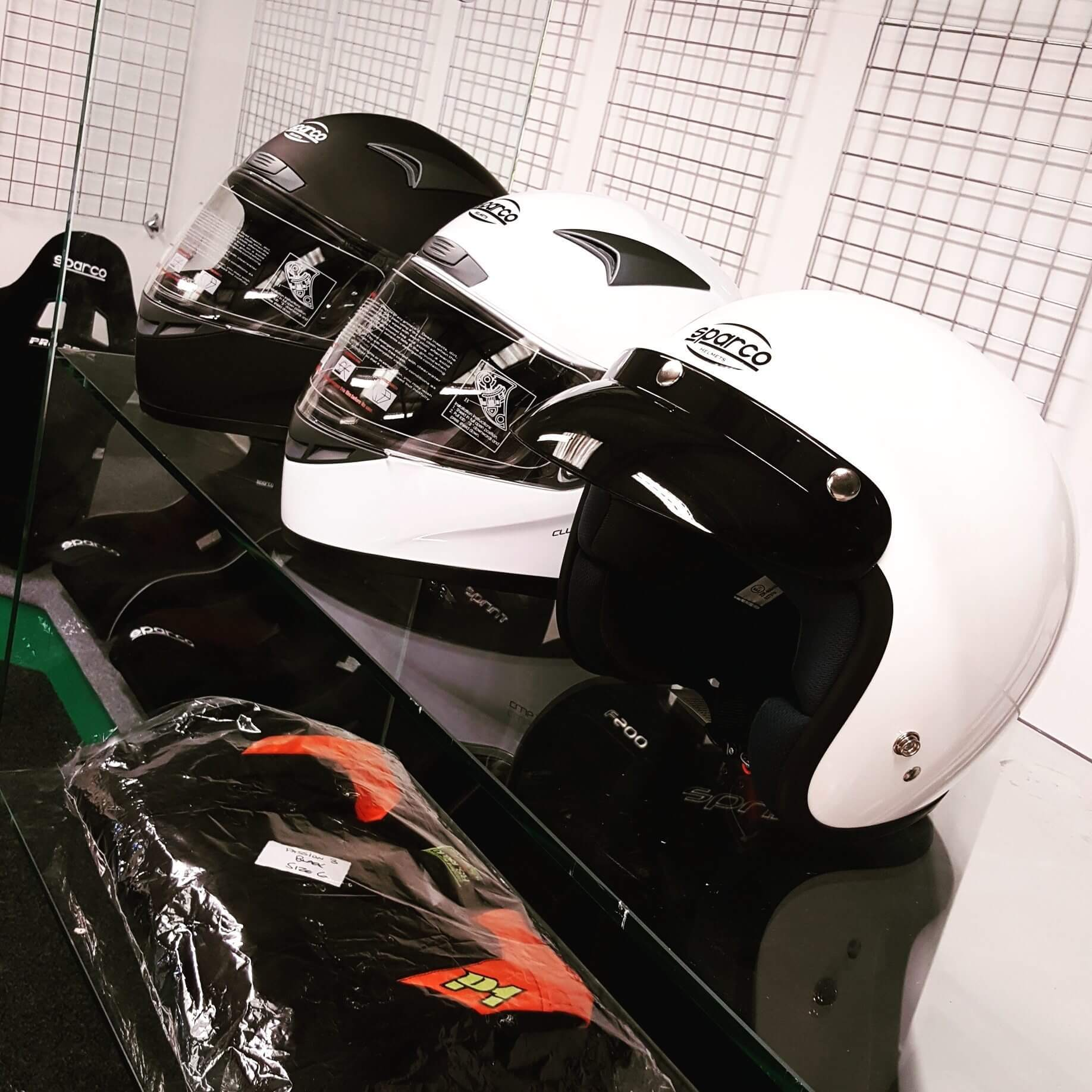 Sparco ECE track day helmets