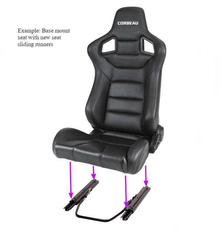 Corbeau seats fitting to universal seat sliders