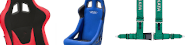SHOP for bucket seats and harness belts